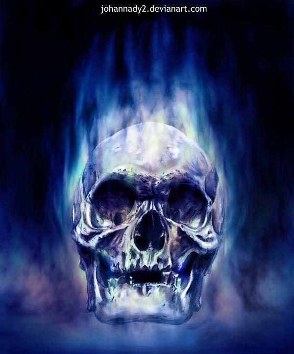 Blue Flaming Skull By Johannady2 On DeviantArt