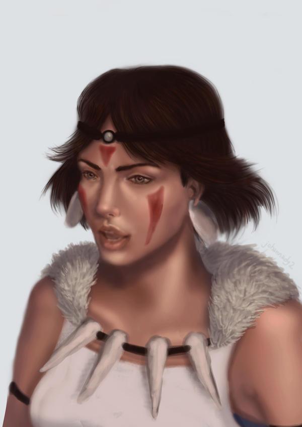 Princess Mononoke Fanart by johannady2