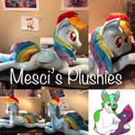 55 inch laying rainbow dash by Mesciplush