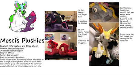 Price sheet and commission sale