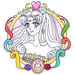 (frame) princess Serenity by KiraCatwell