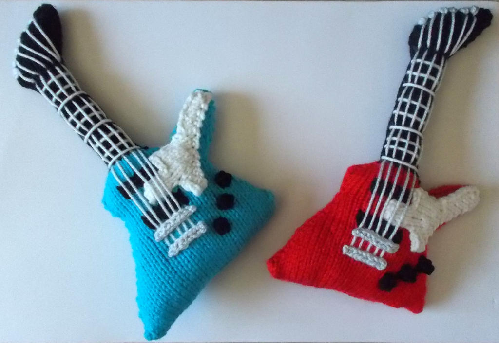 Amigurumi Guitar : Knitted Electric Guitars - Angular Model by DrFrankKnits ...