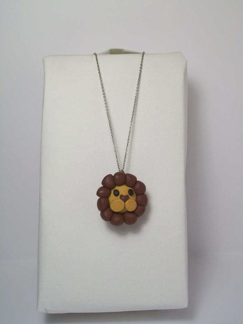 Lion Necklace by squeesqueak