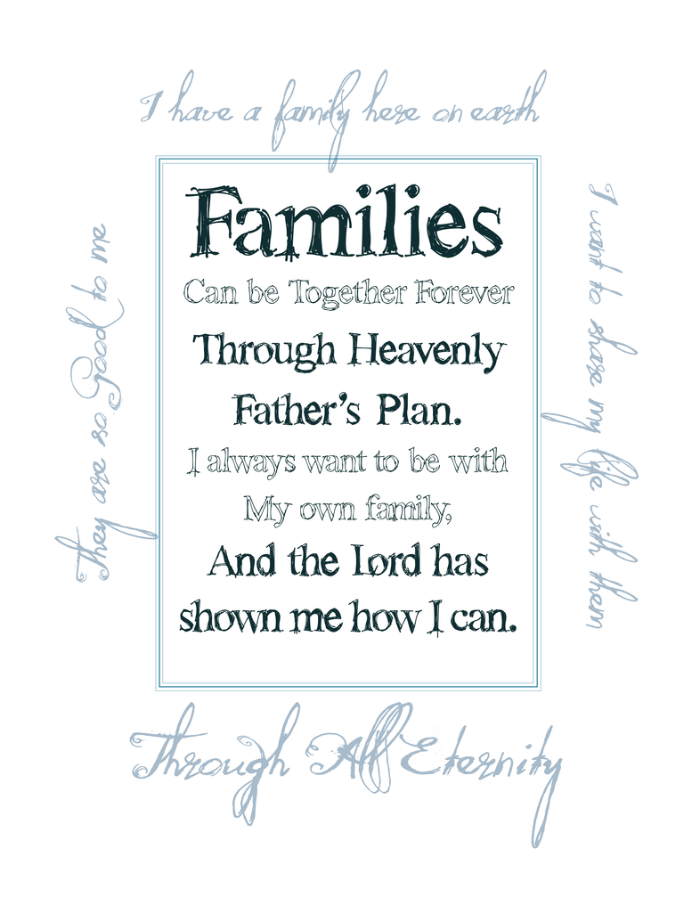Families Are Forever Kids Coloring Pages