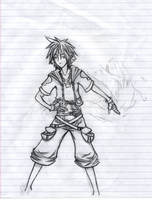 Sora Goes FWOOSH wip by TheAmazingLadyShoe