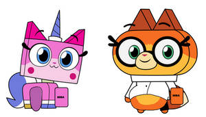 Unikitty and Dr Fox Bitter Stuffed by TheGothEngine