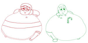 Amaya and Greg are FAT STUFFED AND FULL by TheGothEngine