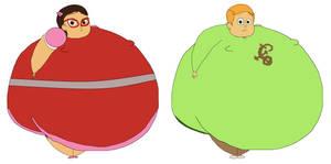 BIG Fat SIZE Amaya and Greg by TheGothEngine