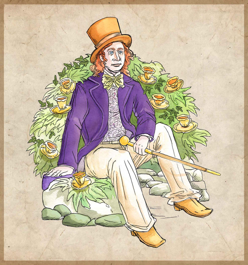 willy wonka fabric wallpaper amp gift wrap  Spoonflower