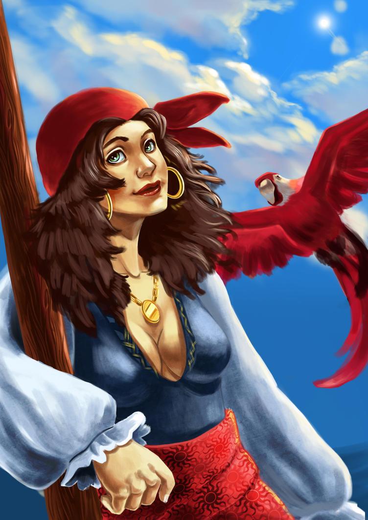 pirate girl by audreymolinatti