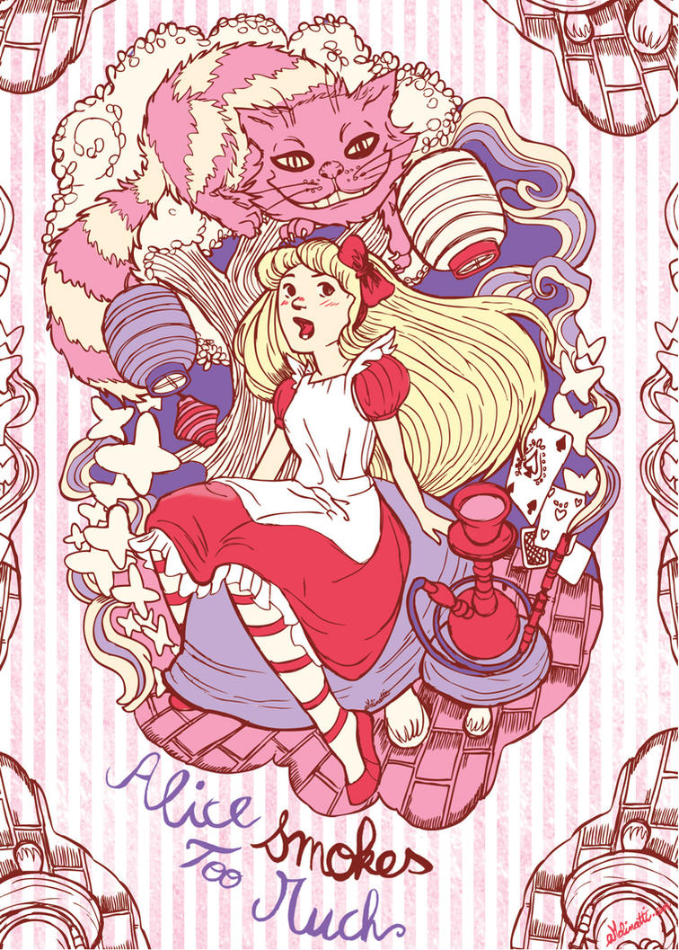 alice smokes too much card by audreymolinatti