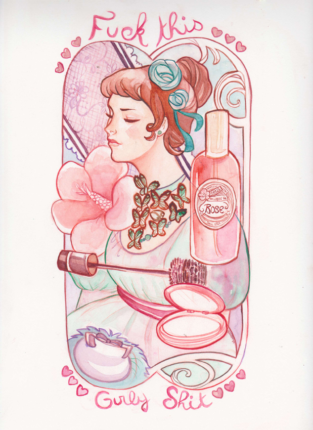 watercolor girly by audreymolinatti