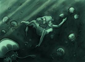 mermaid by audreymolinatti