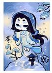 Yokai and season :Yuki onna