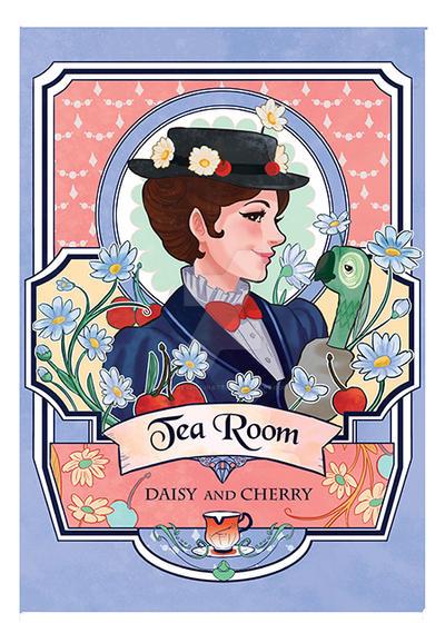 Fangirl tea marry Poppins by audreymolinatti
