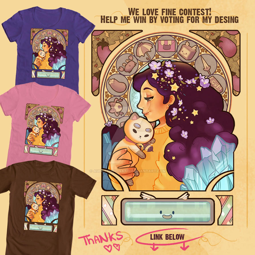 Bee and puppycat art nouveau contest by audreymolinatti