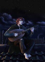 Kvothe The Bard - Rooftops over Anker's