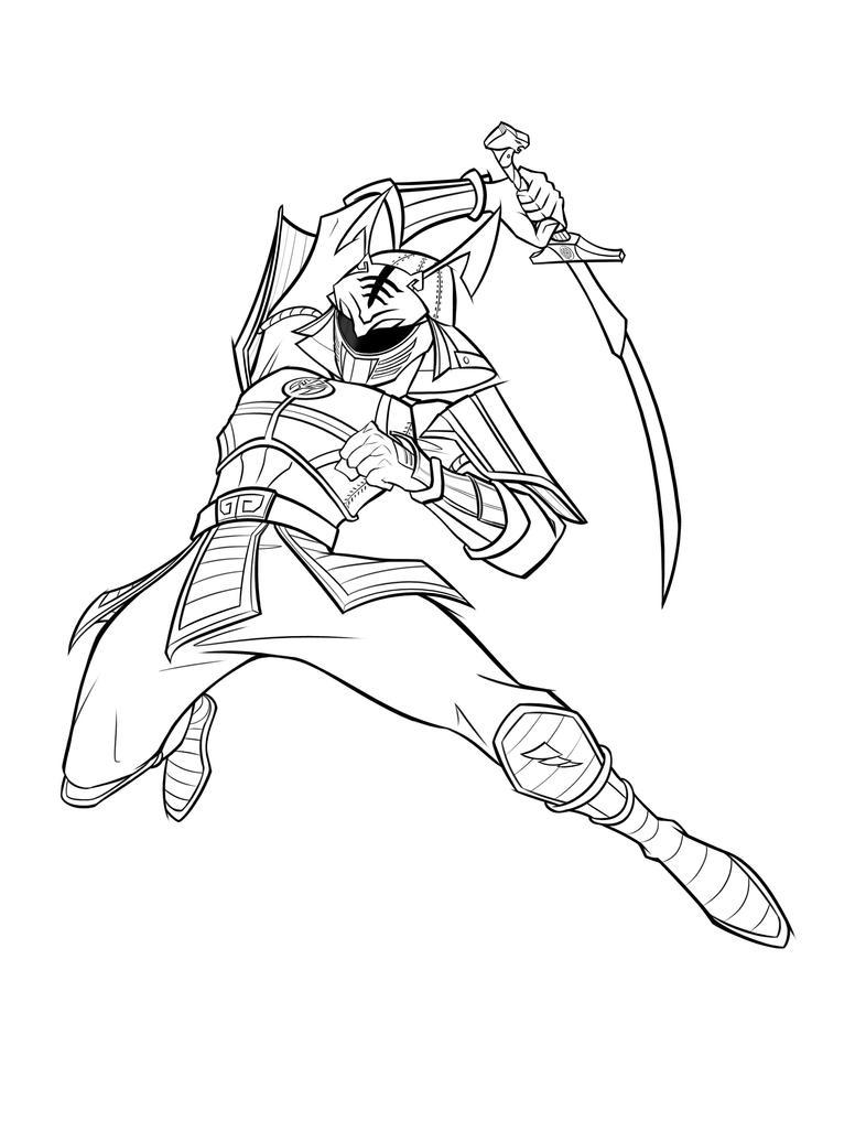Samurai White Ranger Line by Chokorroll
