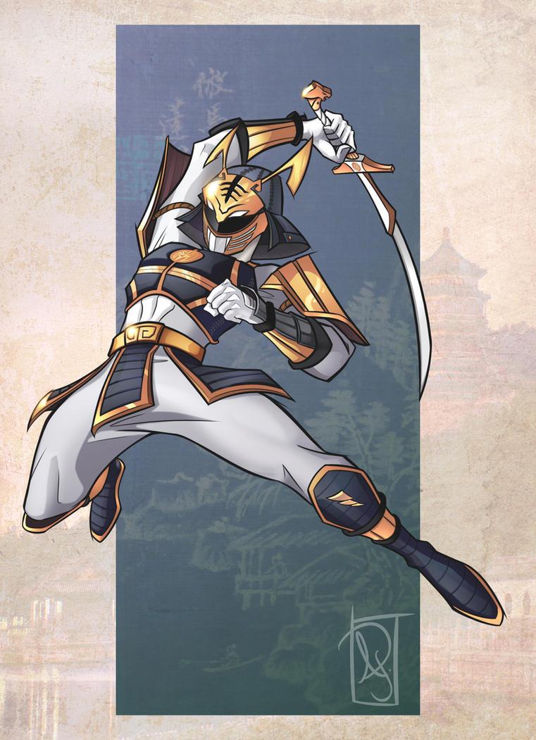 Samurai White Ranger color by Chokorroll