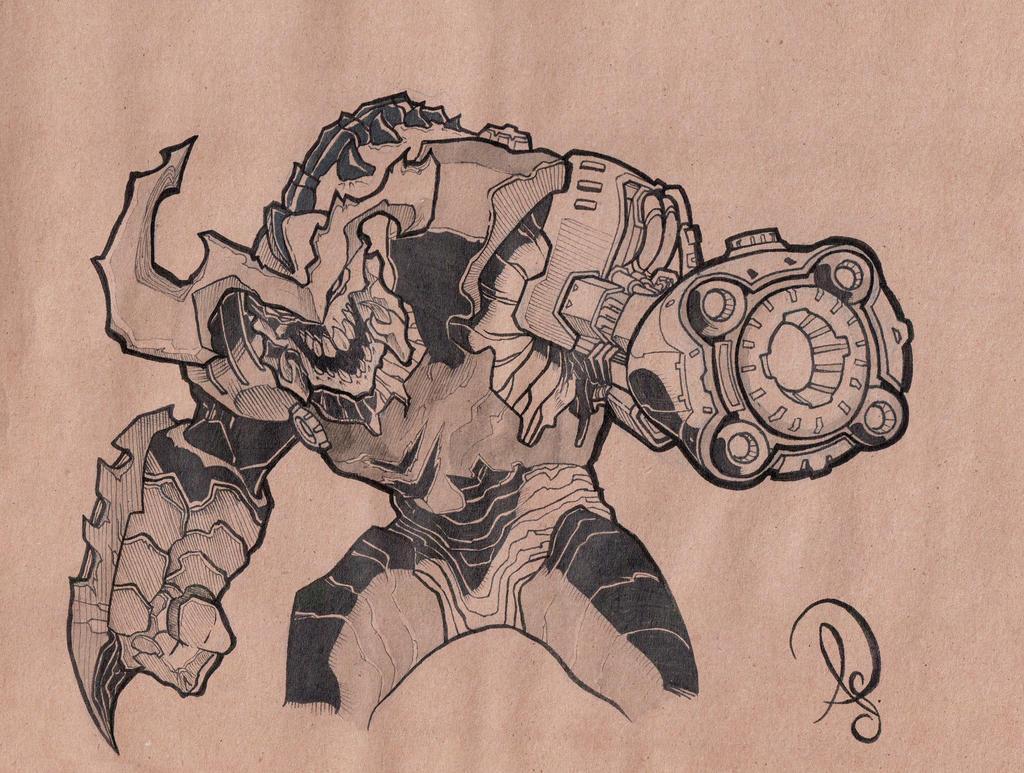 Cyber-demon Doom by Chokorroll