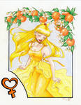 Venus Under Orange Tree