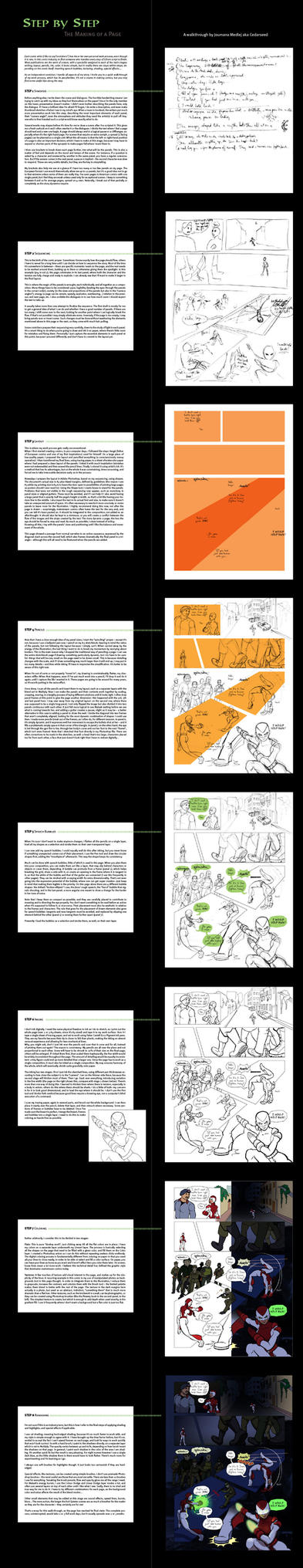 The Making of a Page by Majnouna