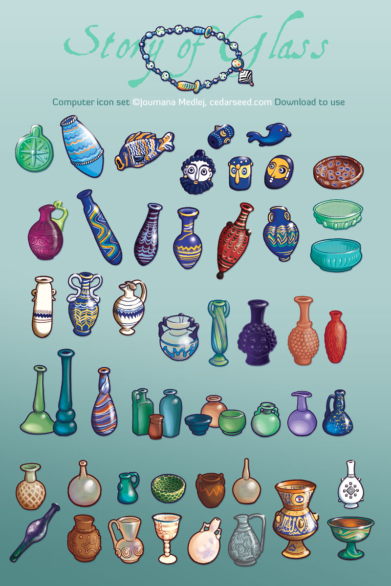 Story of Glass icons by Majnouna