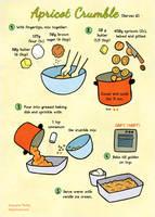 Quick food: Apricot crumble by Majnouna
