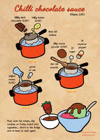 Quick food: Chilli chocolate sauce by Majnouna
