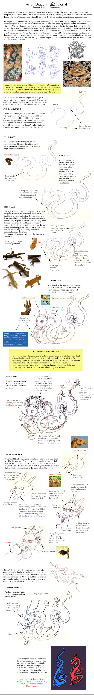 Asian dragons tutorial by Majnouna