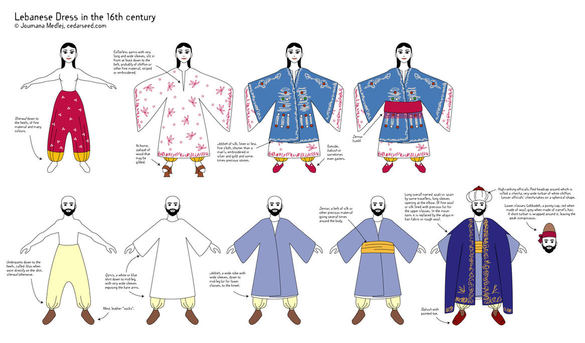 Lebanese dress - 16th century by Majnouna