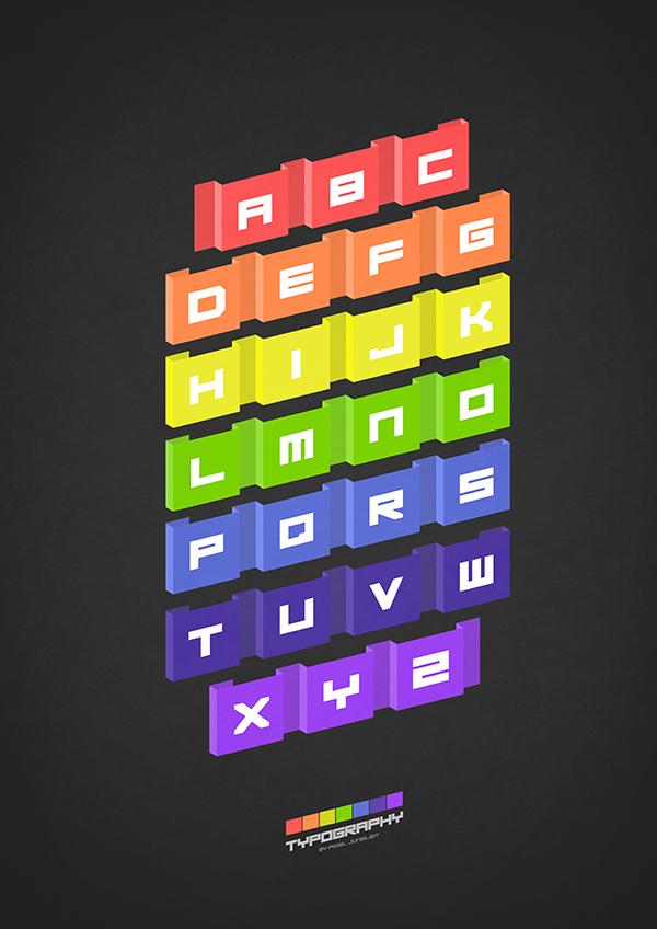 Typography (black) by pixel-junglist