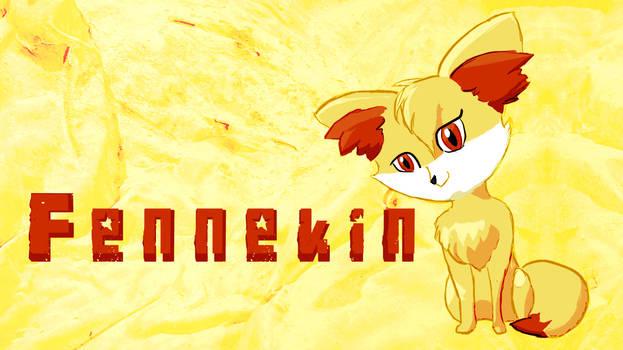 Free Fennekin Desktop Background by Tiiria