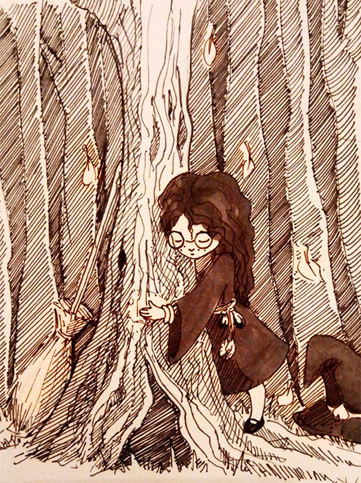 Autumn witch for inktober by AliseCullen