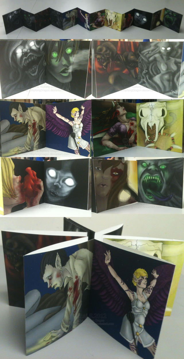 Illustration Accordion Book by RipfangDragon