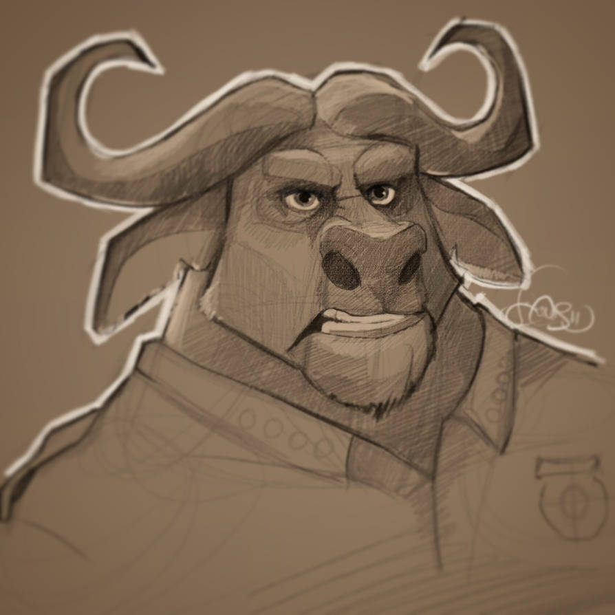 Chief Bogo - Zootopia by SamJonesArt