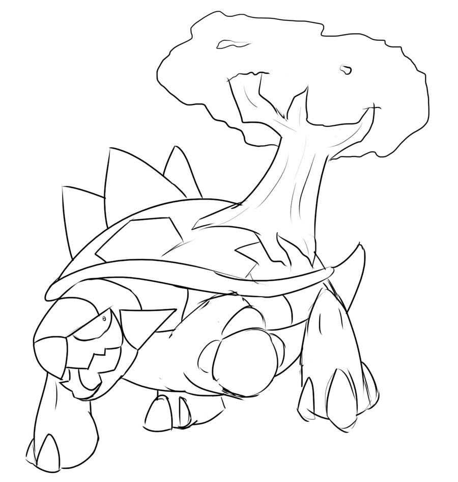 torterra pokemon coloring pages - photo#6