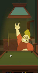 Rockin' out at the pool hall