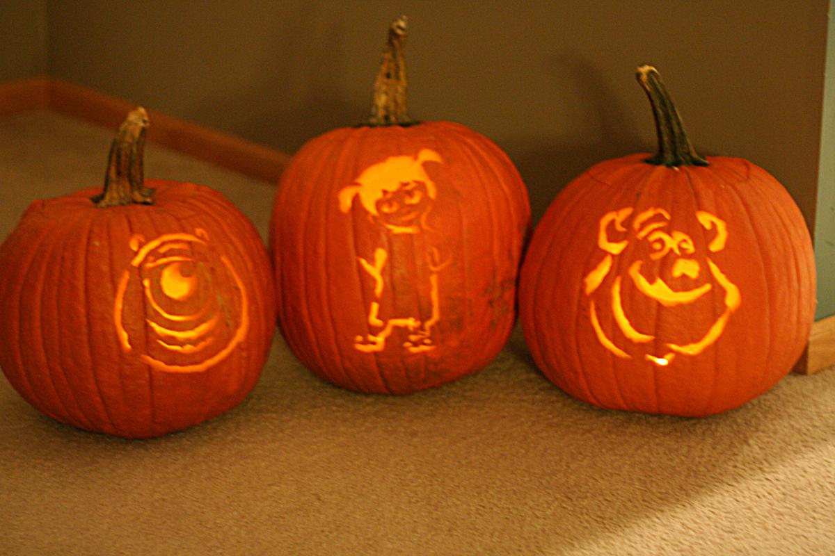 Monsters Inc Pumpkins by monkeyrum on DeviantArt