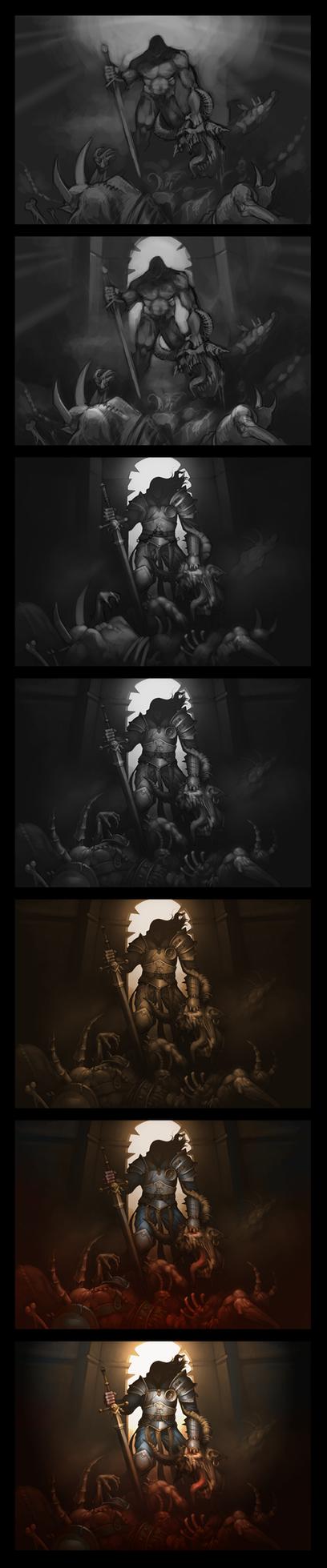 Demon Hunter Wip by Gimaldinov