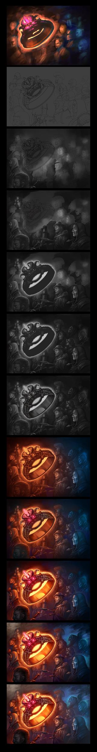 Ring of 1000 soul wip by Gimaldinov