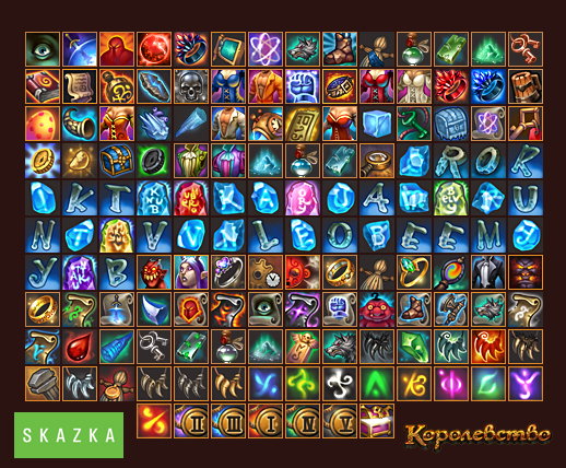 "Icons for mmo ""the Kingdome"" by Gimaldinov"
