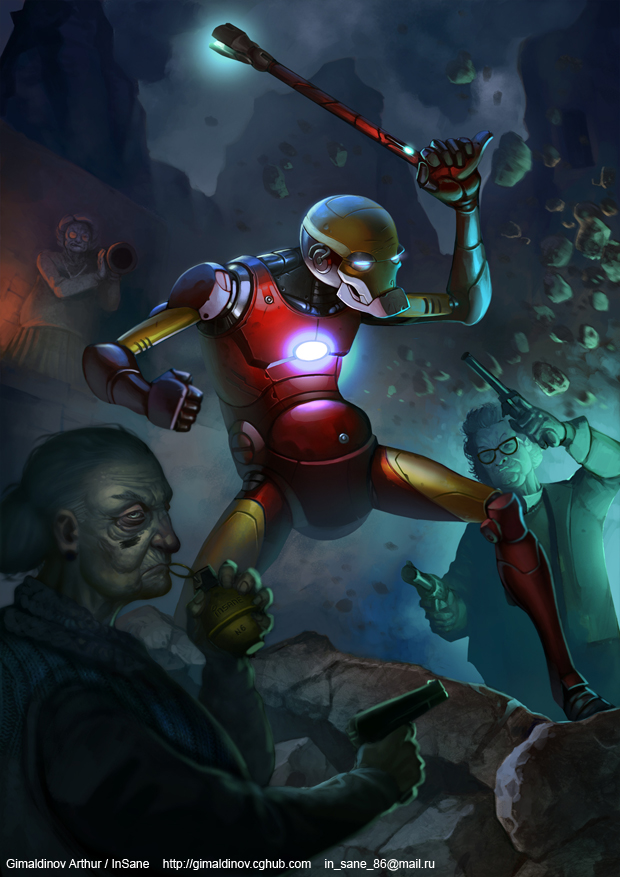 Old Iron Man by Gimaldinov