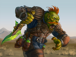 Orc with poisoned dagger