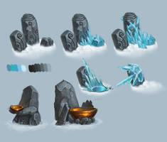 Frozen totems by Gimaldinov