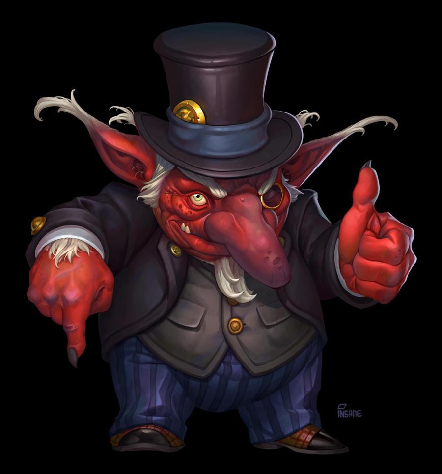 Red goblin by Gimaldinov