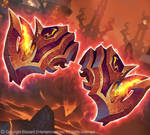 Pauldrons of Roaring flame