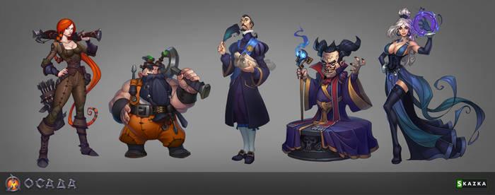 Siege. Characters