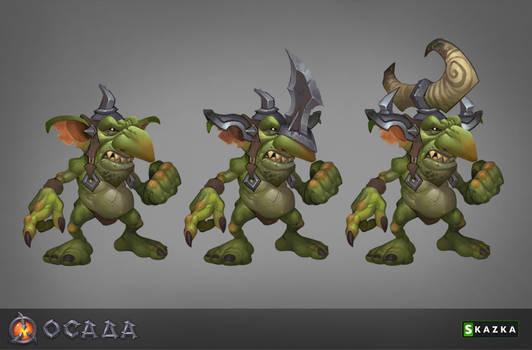 Siege.  Goblin marauders