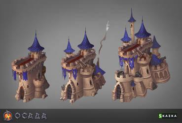 Siege. Castle by Gimaldinov